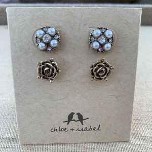 Chloe + Isabel Royal Thistle Stud Duo Earrings